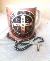 St Benedict Mug and Rosary Combo