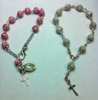 Swirl or Rose Rosary Bracelet